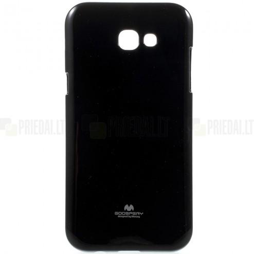 Samsung Galaxy A5 2017 (A520) Mercury melns cieta silikona (TPU) apvalks