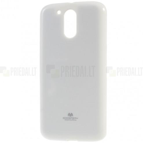 Motorola Moto G4, Moto G4 Plus Mercury balts cieta silikona (TPU) apvalks