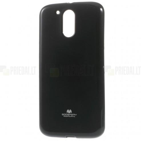 Motorola Moto G4, Moto G4 Plus Mercury melns cieta silikona (TPU) apvalks