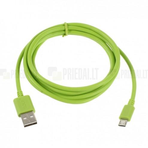 Micro usb 1.0 zaļš vads 1 m.