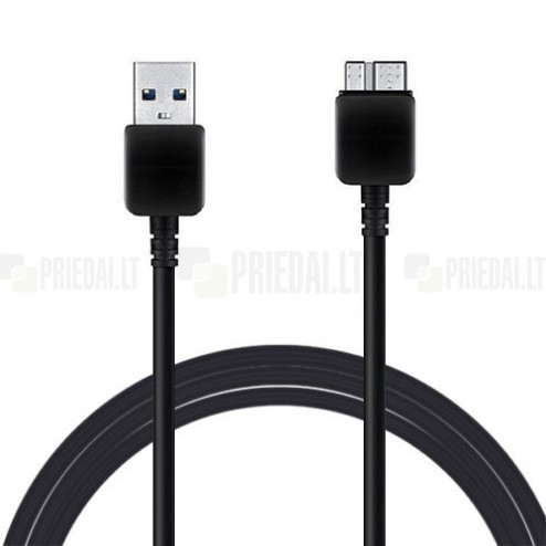 Melns micro USB 3.0 vads (3 metri)