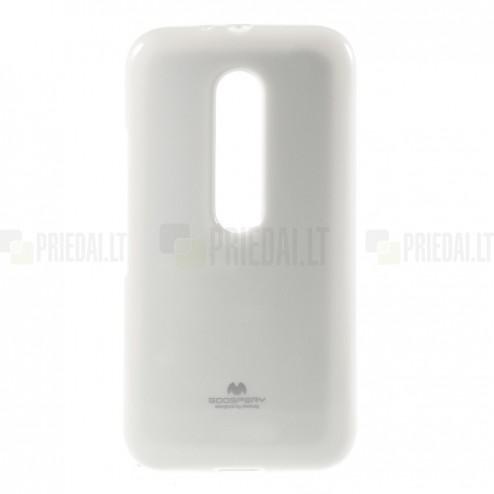 Motorola Moto G 3rd (3 Gen) Mercury balts cieta silikona (TPU) apvalks
