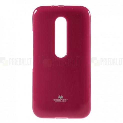 Motorola Moto G 3rd (3 Gen) Mercury tumši rozs cieta silikona (TPU) apvalks
