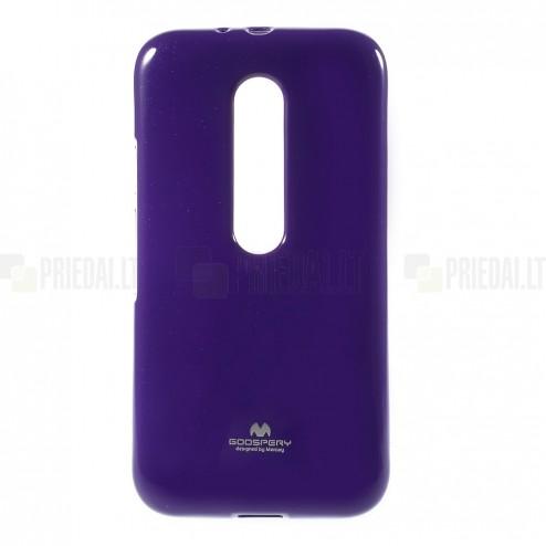 Motorola Moto G 3rd (3 Gen) Mercury violeta cieta silikona (TPU) apvalks
