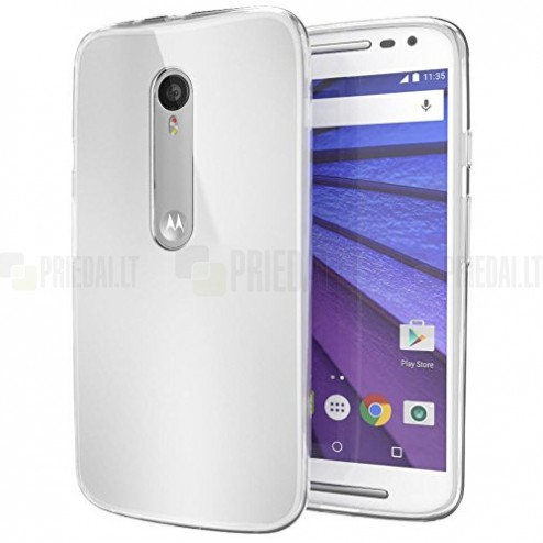 Motorola Moto X Style cieta silikona (TPU) dzidrs (caurspīdīgs) apvalks