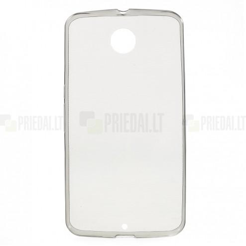 Motorola Nexus 6 dzidrs (caurspīdīgs) cieta silikona TPU pasaulē planākais pelēks apvalks