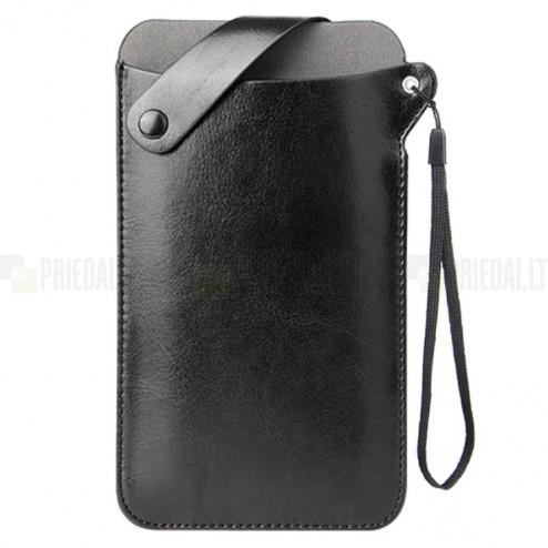MQ universāla melna ieliktņa ādas - futrālis (XL izmērs)