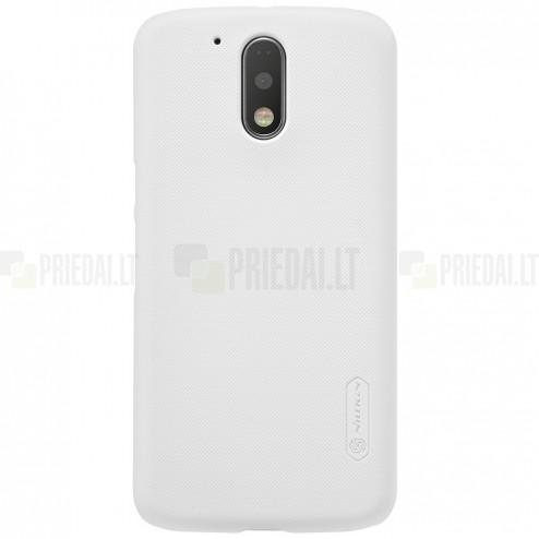 Motorola Moto G4, Moto G4 Plus Nillkin Frosted Shield balts plastmasas apvalks + ekrāna aizsargplēve