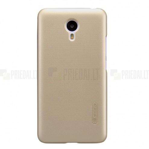 Meizu m2 note Nillkin Frosted Shield zelta plastmasas apvalks + ekrāna aizsargplēve