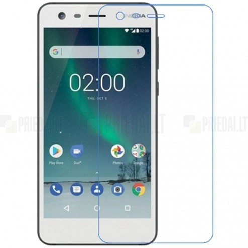 Nokia 2 dzidrs ekrāna aizsargstikls (Tempered Glass)