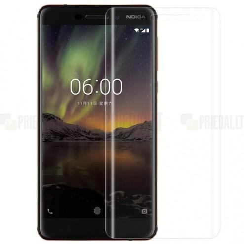 Nokia 6 2018 dzidra ekrāna aizsargplēve (pilnīgi aizsedzama)