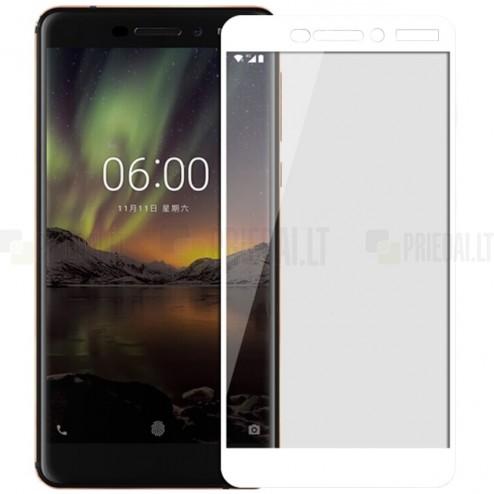 Nokia 6 (2018) Mofi Tempered Glass balts ekrāna aizsargstikls