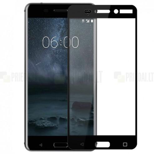 Nokia 6 Calans Tempered Glass melns ekrāna aizsargstikls