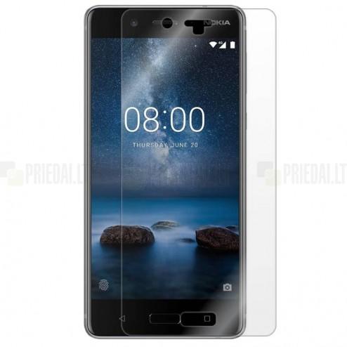 Nokia 8 dzidra ekrāna aizsargplēve (pilnīgi aizsedzama)