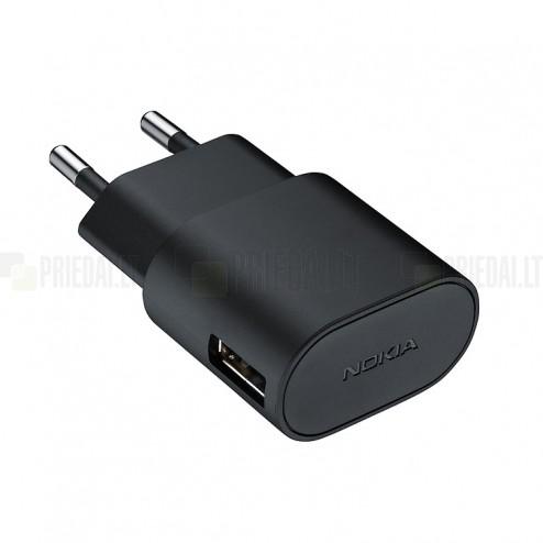 """Origināls """"Nokia"""" melns tīkla lādētājs (AC-50E, Eiropas modelis) + Micro USB vads"""