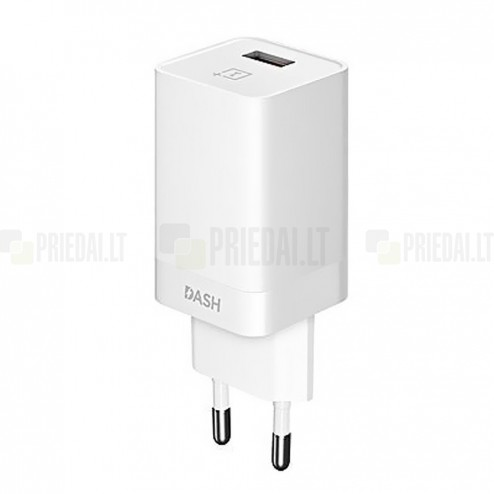 """Origināls """"OnePlus"""" DASH Charge balts tīkla lādētājs (DC0504B3GB, EU, Eiropas modelis)"""