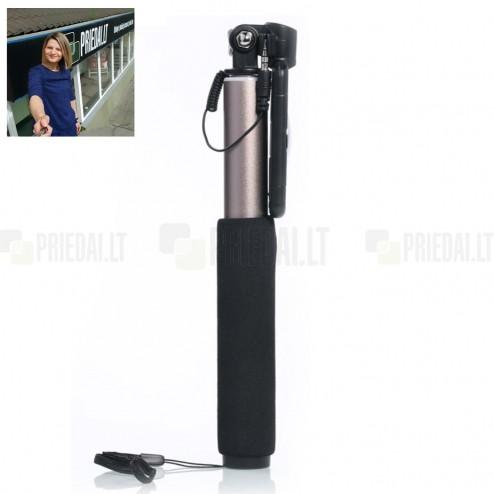 """""""Remax"""" teleskopiskais selfija zelta statīvs-turētājs – monopod"""