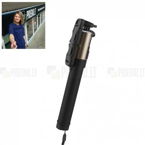 """""""Rock"""" teleskopiskais selfija zelta statīvs-turētājs – monopod"""