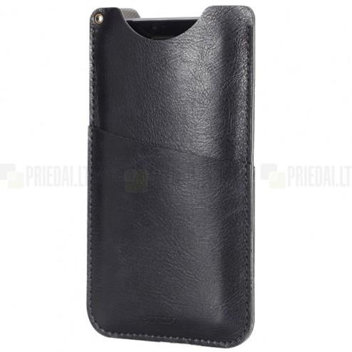 """""""Rock"""" Slim melna telefona ieliktņa ādas telefona ieliktņa (XL izmērs)"""