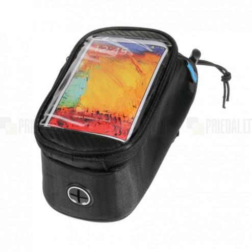 """""""Roswheel"""" melns universāls telefona futrālis velosipēdam (XL)"""