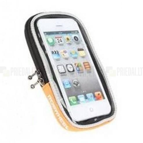 """""""Roswheel"""" oranžs universāls telefona futrālis velosipēdam (S)"""