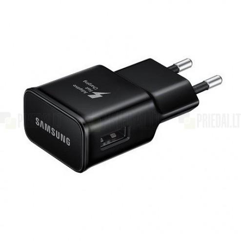 "Origināls ""Samsung"" Adaptive Fast Charging EP-TA20EBE melns tīkla lādētājs (Eiropas modelis 2A)"