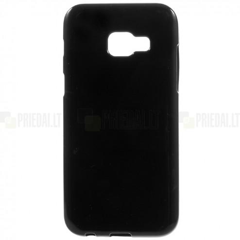 Samsung Galaxy A5 2017 (A520) cieta silikona (TPU) melns apvalks