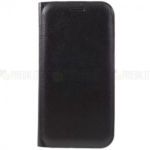 Samsung Galaxy A5 2017 (A520) melns atvēramais Smart Wallet ādas maciņš - maks