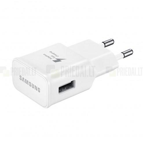 """Origināls """"Samsung"""" Adaptive Fast Charging balts tīkla lādētājs (Eiropas modelis 2A) ar micro USB vadu"""