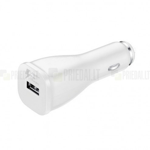 "Origināls ""Samsung"" Adaptive Fast Charging EP-LN915U balts autolādētājs ar micro USB vadu (2000 mA / 1670mA)"