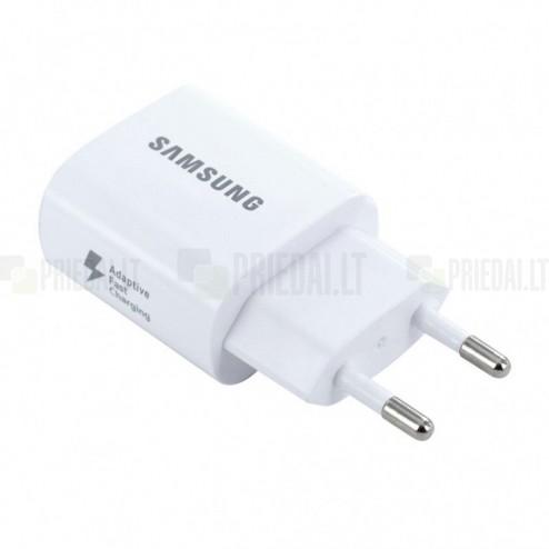 """Origināls """"Samsung"""" Adaptive Fast Charging EP-TA600 balts tīkla lādētājs (Eiropas modelis 2A)"""