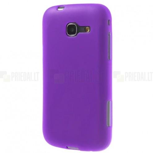 Samsung Galaxy Trend Lite (S7390, S7392) violeta, matēts cieta silikona (TPU) apvalks