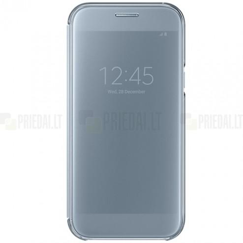 Samsung Galaxy A5 2017 (A520) oficiāls Clear View Cover atvērams sudrabs ādas maciņš