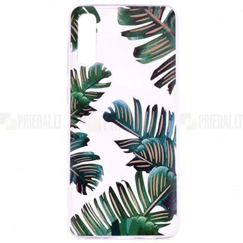 """Samsung Galaxy A70 (A705F) """"Leaves"""" cieta silikona (TPU) dzidrs apvalks"""