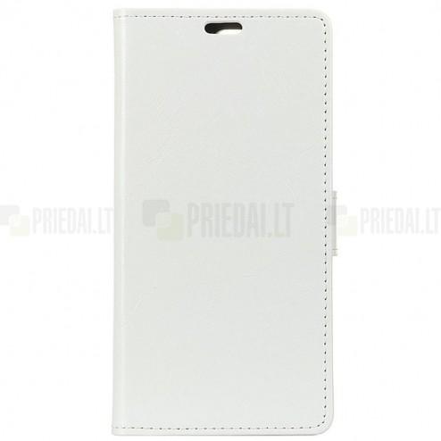 Samsung Galaxy A70 (A705F) atvēramais ādas balts maciņš (maks)