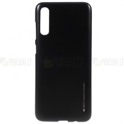 Samsung Galaxy A70 (A705F) Mercury melns cieta silikona (TPU) apvalks