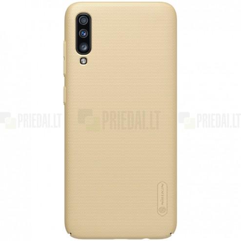 Samsung Galaxy A70 (A705F) Nillkin Frosted Shield zelta plastmasas apvalks