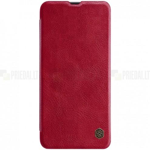 """Greznais """"Nillkin"""" Qin sērijas ādas atvērams sarkans Samsung Galaxy A70 (A705F)"""