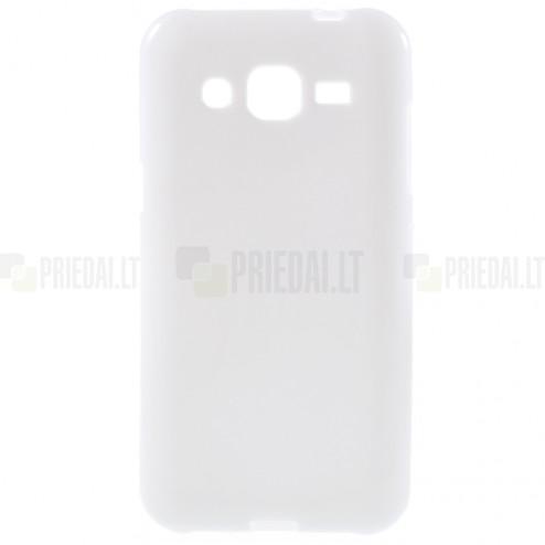 Samsung Galaxy J2 (J200) cieta silikona (TPU) balts apvalks
