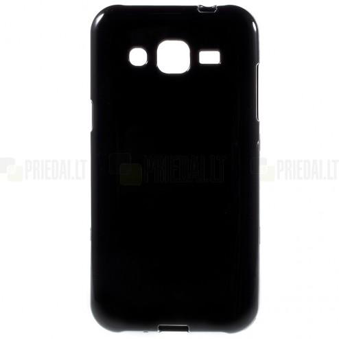Samsung Galaxy J2 (J200) cieta silikona (TPU) melns apvalks