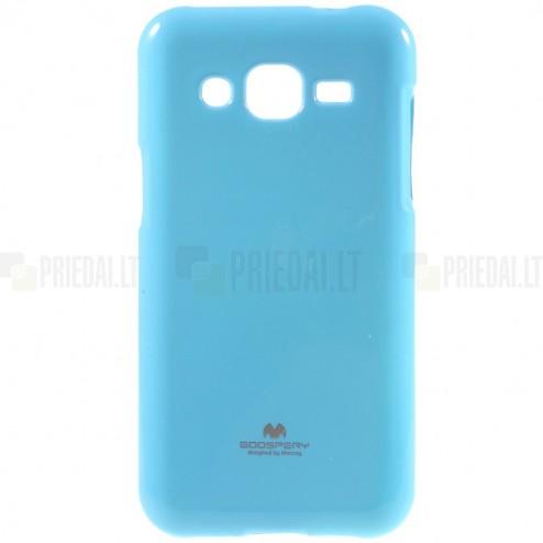 Samsung Galaxy J2 (J200) Mercury zils cieta silikona (TPU) apvalks