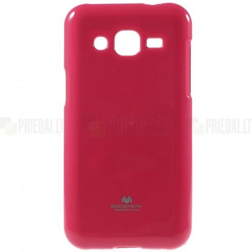 Samsung Galaxy J2 (J200) Mercury tumši rozs cieta silikona (TPU) apvalks
