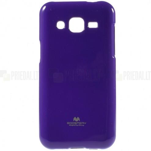 Samsung Galaxy J2 (J200) Mercury violeta cieta silikona (TPU) apvalks