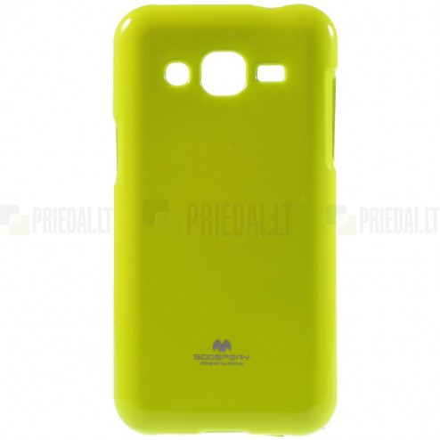 Samsung Galaxy J2 (J200) Mercury zaļš cieta silikona (TPU) apvalks