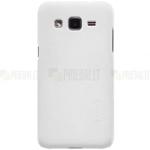 Samsung Galaxy J2 (J200) Nillkin Frosted Shield balts plastmasas apvalks + ekrāna aizsargplēve