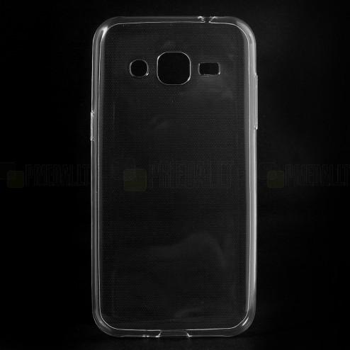 Samsung Galaxy J2 (J200) dzidrs (caurspīdīgs) cieta silikona TPU pasaulē planākais apvalks