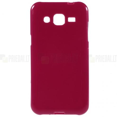 Samsung Galaxy J2 (J200) cieta silikona (TPU) sarkans apvalks
