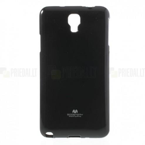 Samsung Galaxy Note 3 Neo Mercury melns cieta silikona (TPU) futrālis