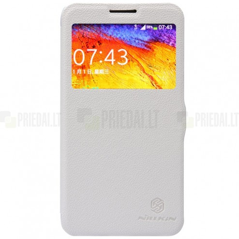 "Samsung Galaxy Note 3 Neo N7505 ""Nillkin"" Fresh atvēramais melns futrālis"
