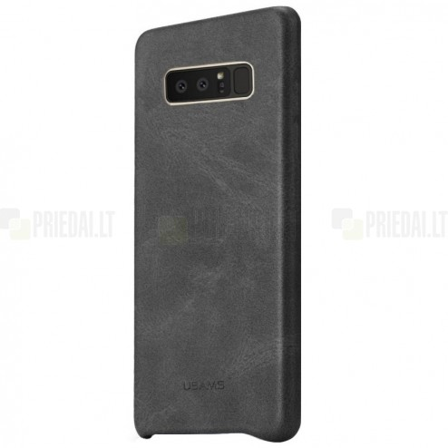 """USAMS"" Slim Leather Samsung Galaxy Note 8 (N950F) melns ādas apvalks"